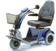 Scootmobiel met drie wielen